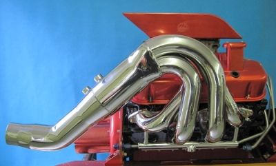 """LIGHTNING ALL STAINLESS BIG BLOCK CHEV JET /V-DRIVE HEADER 2"""" PRIMARY 36"""" OVERALL WIDTH"""