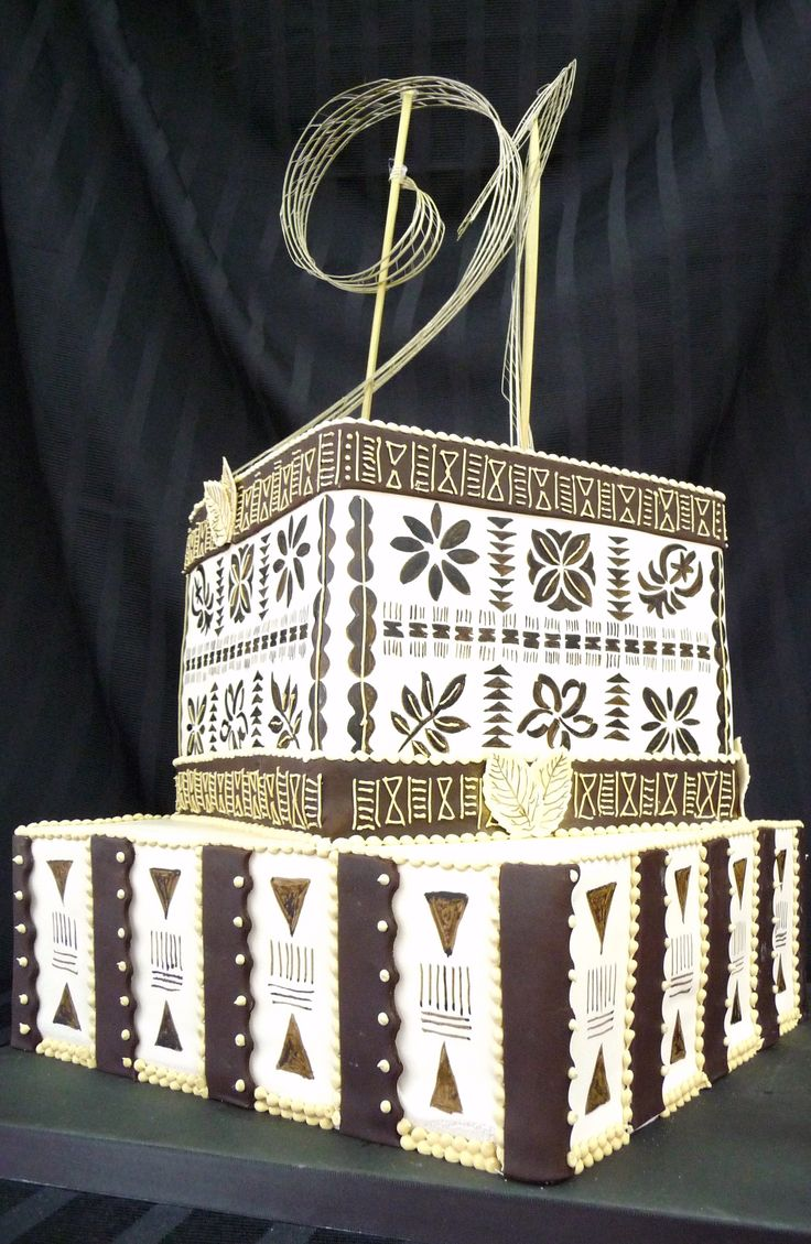 Samoan 21st Birthday Cake With Traditional Detail Https