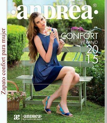 Catalogo de Andrea Confort Verano 2015. Imagen de zapatos comodos y elegantes.