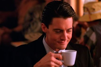"""""""A damn fine cup of coffee."""" Twin Peaks. I loved that show when it was on, but I probably wouldn't like it if it was on now."""