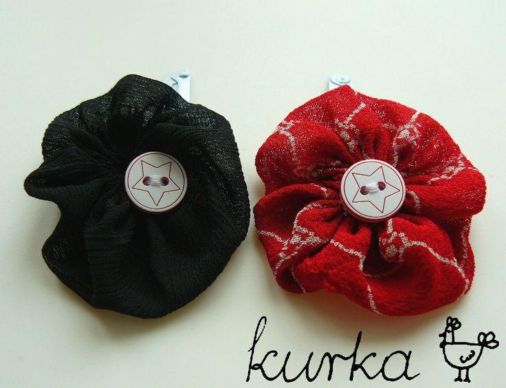 spinki handmade by kurka - czarny czerwony