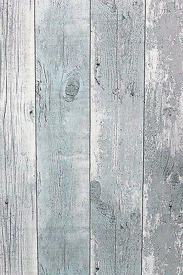 Vlies Tapete Antik Holz rustikal verwittert hell blau grau vertäfelung 68614