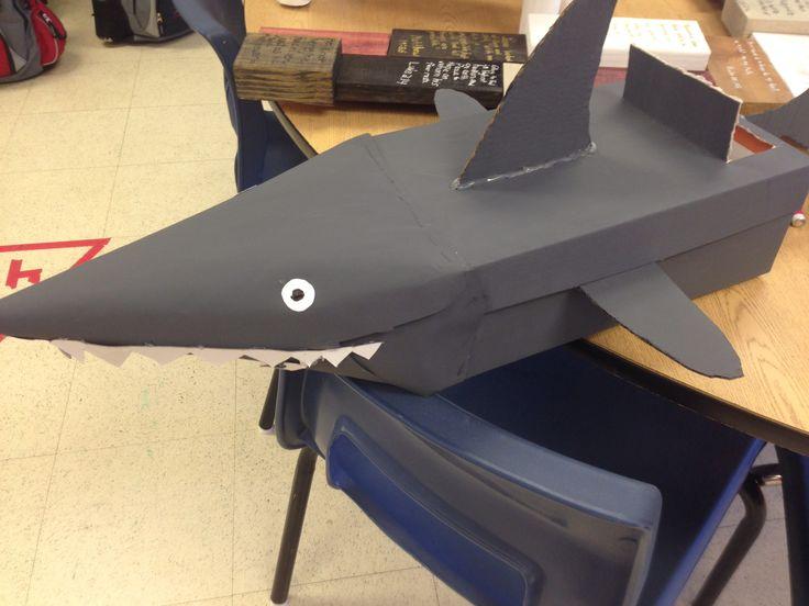 3rd grade shark- animal classification valentine box