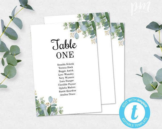 Greenery Wedding Seating Chart Template Table Cards Wedding Seating Cards Wedding S Card Table Wedding Seating Chart Template Seating Chart Wedding Template