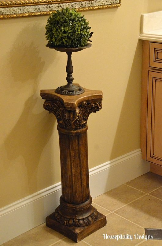 Apply Annie Sloan DARK wax to those old white plaster columns you have.