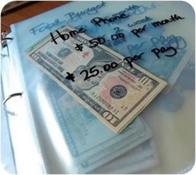 Budgeting! Makes Cent$! this is actually a really good idea, except for I don't like cash sitting around in a binder in the house....