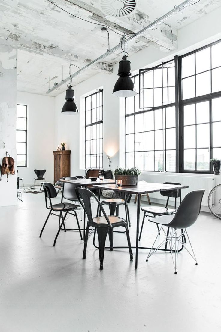 'Sunday Sanctuary: Room With A View' interiors post on www.oraclefox.com #frenchwindows #whiteinteriors #homeinspiration #diningroom #industrialhome