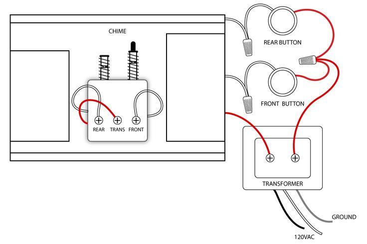 doorbell wiring diagrams doorbell pinterest home doorbell wiring 2 chimes