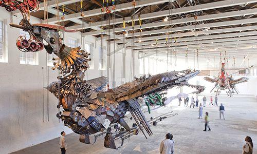 MASS MoCA - Xu Bing: Phoenix: Art I D, Artists Xu, Art Sculpture Installations, Berkshir Museums, Contemporary Art, Chinese Artists, Chine Artists, Archives Galleries, Art Artists