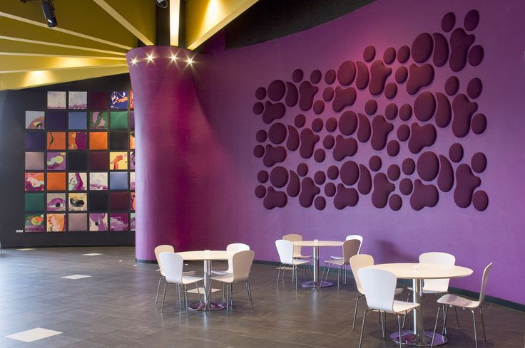 Beautiful acoustic panels help minimize noise pollution and make open spaces enjoyable for everyone.