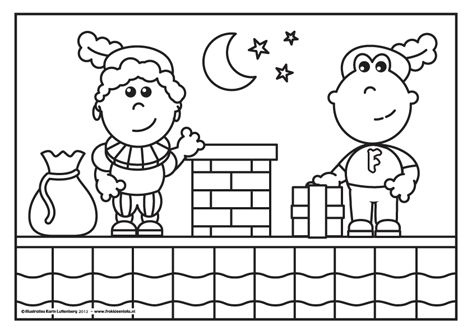 Piet heeft het heel erg druk en daarom helpt Frokkie hem een handje. Wel een beetje spannend zo hoog op een dak! Frokkie heeft een cadeau in zijn hand en gaat zo samen met piet het pakje bezorgen door de schoorsteen.