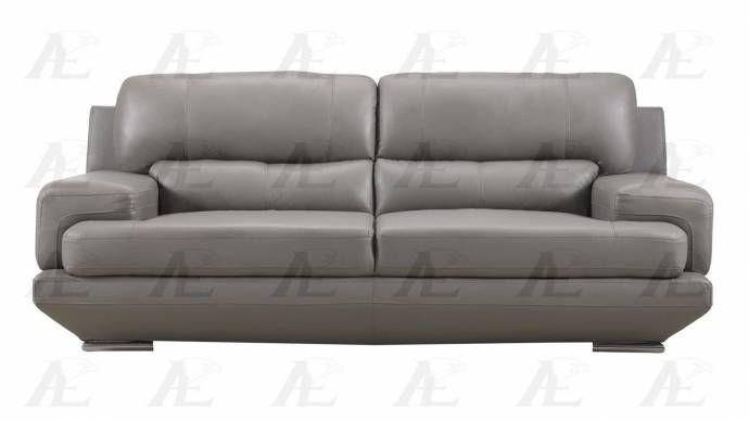 American Eagle Furniture Ek518 Gr Gray Sofa And Loveseat Set Genuine Leather 2pcs Ek518 Gr Set 2 Sofa And Loveseat Set Love Seat Eagle Furniture