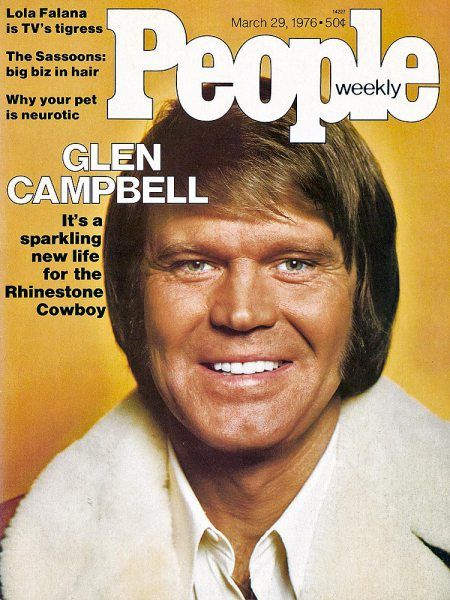"Hits like ""Rhinestone Cowboy"" have put Glen Campbell back in the saddle again. He's lucky in love, too, with the former wife of friend Mac Davis."