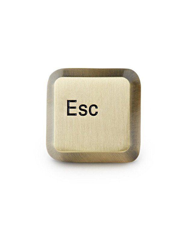 Esc Key Pin – $10 USD (Mean Folk at Strange Ways)