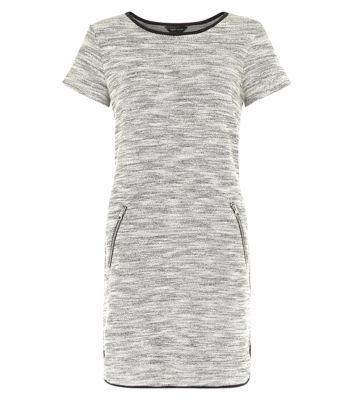 White Fine Knit Tunic Dress