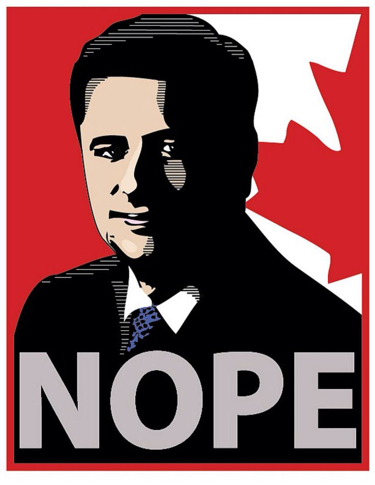 """""""Nope"""" by Bob Preston, 2015. Please download, print, pass on, and post—then get out and vote!"""