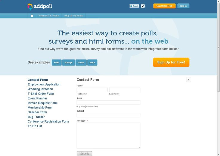 Online survey and poll software Free online form builder - software request form