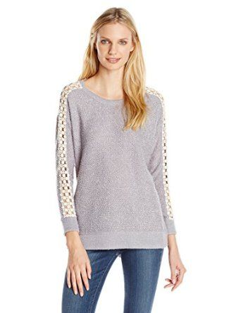 Jessica Simpson Women's Jaice Lace Trim Pullover Sweater from $43.99 by Amazon BESTSELLERS