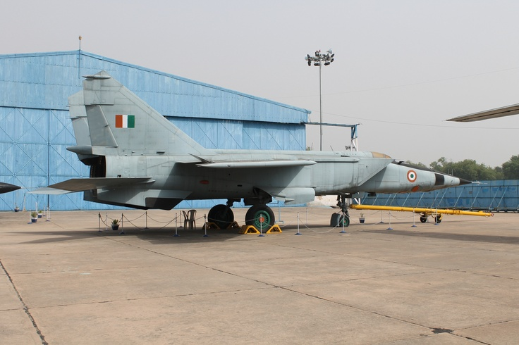 A retired Mig25, fastest plane in India with Mach 3