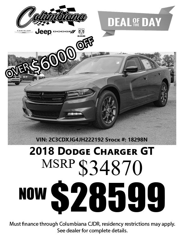 Pin By Columbiana Chrysler Jeep Dodge On Deal Of The Day 2018