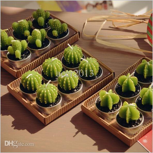 Venda Por Atacado Atacado Rare New Mini Cactus Velas Decor Planta Início Mesa Jardim Frete Grátis Kawaii Decoração De Casa Em Beasy112, $5.17 Em Pt.Dhgate.Com | Dhgate