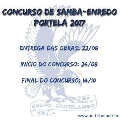 Confira o cronograma do Concurso de samba-enredo da Portela 2017. www.portelamor.com - Porque amar é fundamental.