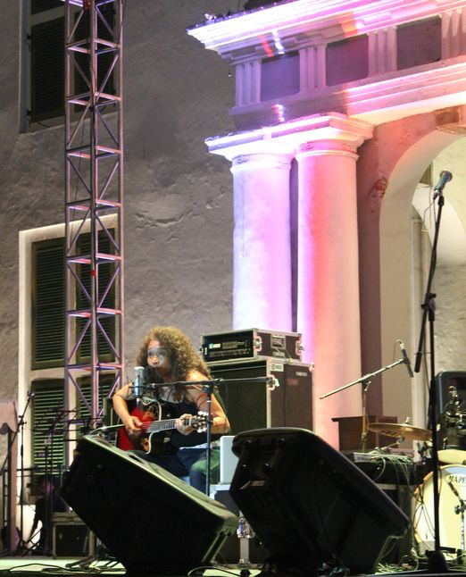 Local artist: Music performances enliven the city's anniversary. (Photo by Sultan Rivai)