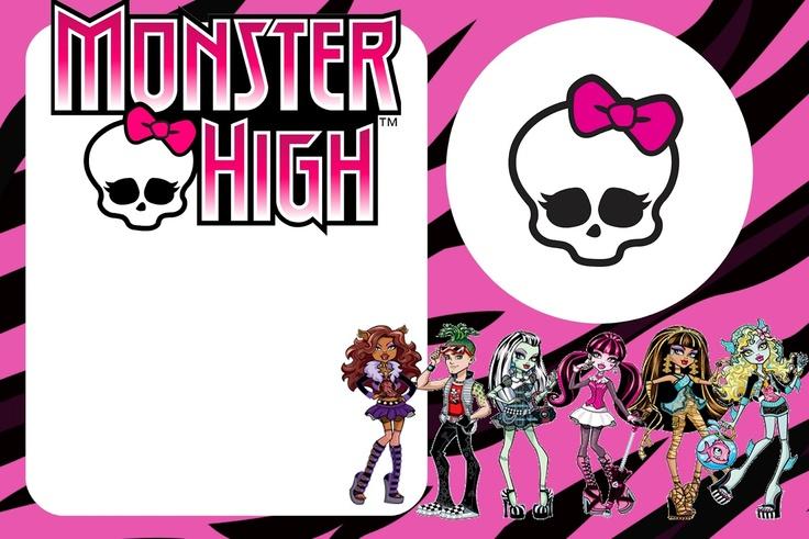 Fazendo a Minha Festa!: Monster High - Kit Completo com molduras para convites, rótulos para guloseimas, lembrancinhas e imagens!