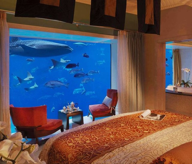 Atlantis The Palm In Dubaiunderwater Hotel Room Suite Theres An Awesome Waterpark Close By I Wanna Go