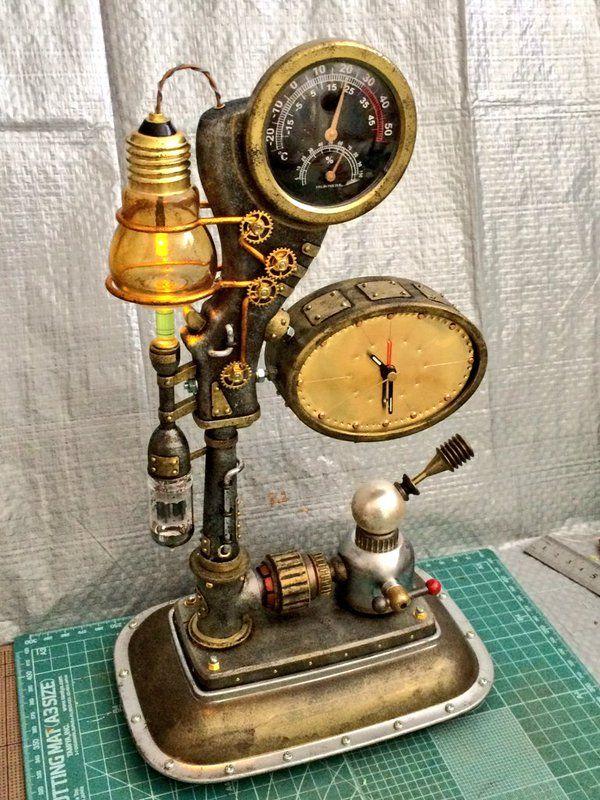 """スチームパンク工作 例によって100円ショップの商品を組み合わせての工作。""""Steampunk Table clock"""" を作りました。 - ツイナビ   ツイッター(Twitter)ガイド"""