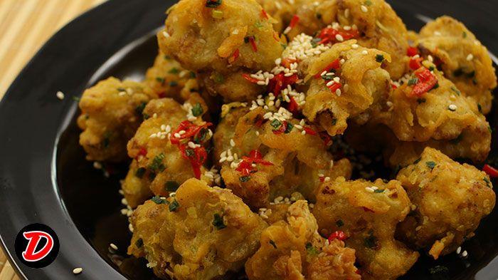 Resep Bunga Kol Cabe Garam, ikuti video masak cara membuat Bunga Kol Cabe Garam nya step by step ya. Pertama sipakan bahan sbb : merica, garam,
