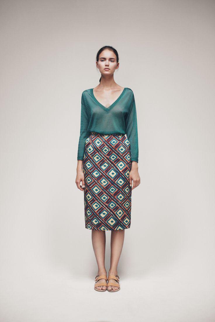 Deedra Sweater and Flame Skirt | Samuji SS15 Seasonal Collection