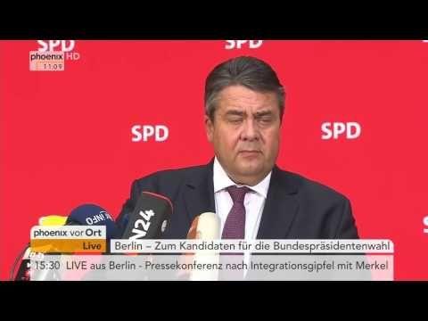Joachim Gauck Nachfolge  Sigmar Gabriel zur Steinmeier Nominierung am 14...