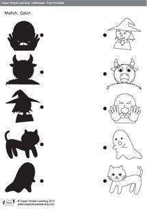 Halloween Shadow Match