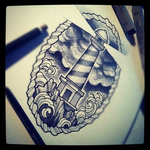 LIghthouse - Tattoo Idea start