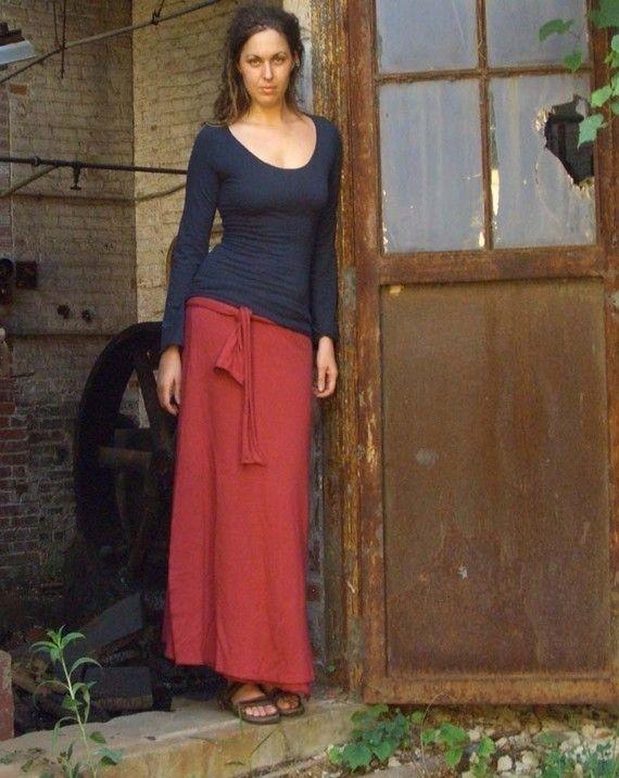 Simplicity Wrap Long Skirt light hemp/organic par gaiaconceptions