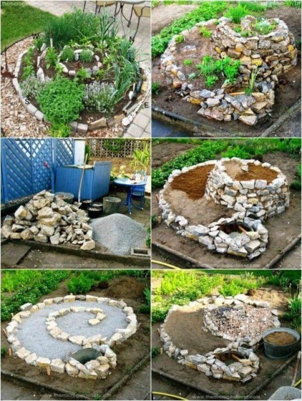 How To Plant Spiral Herbal Gardens Correctly List With Suitable Plants And Planting Plans Diy Krautergarten Garten Garten Ideen