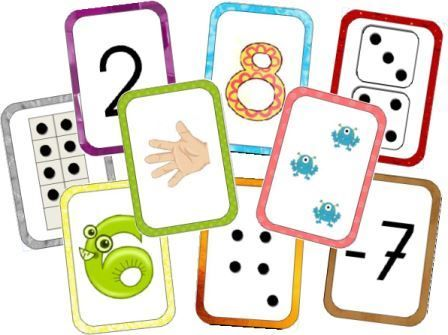 * Telkaarten! Stippen, vingers, dieren, cijfers en - en + cijferkaarten!