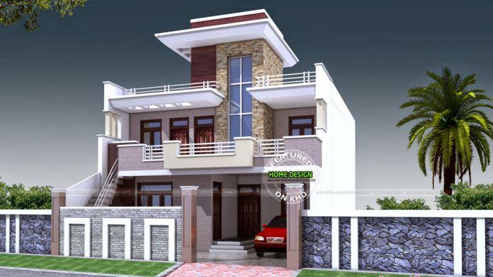 Double Storey Kerala Houses Front Elevations Kerala