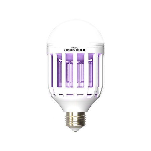 Nebo #6458 Z-Bug Bulb, Indoor/Outdoor Mosquito Zapper, 600 Lumem, 2 Light Modes