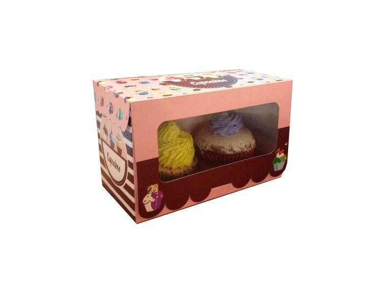 Cajas cupcake x2 con nido incluido...