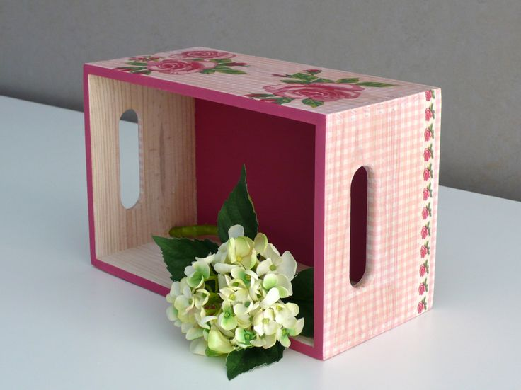 Caja decoupage. Wooden box. www.elpiojito.es