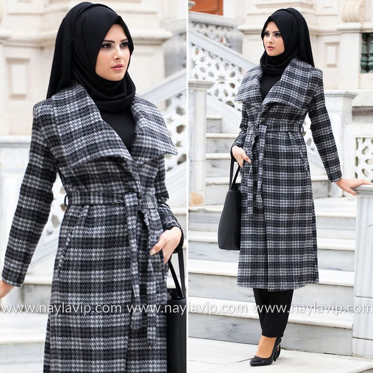 NAYLA COLLECTION - GREY COAT - 152GR #hijab #naylavip #hijabi #hijabfashion #hijabstyle #hijabpress #muslimabaya #islamiccoat #scarf #fashion #turkishdress #clothing #eveningdresses #dailydresses #tunic #vest #skirt #hijabtrends