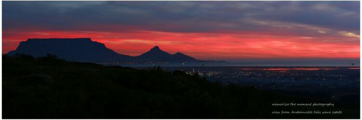 Cape town , table mountain, sunset, winter sky, durbanville hills wine estate,