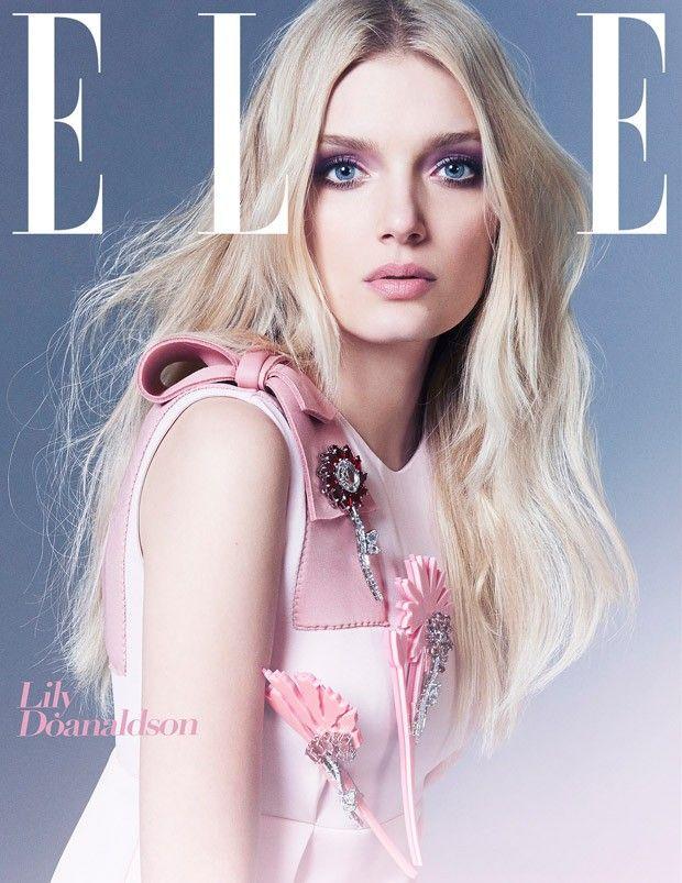 Lily Donaldson in Prada for Elle UK August 2015