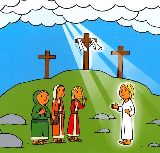 De engel brengt het nieuws van Jezus zijn herrijzenis