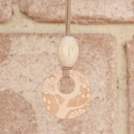 Natural Wood Pendant Necklace Tree Pendant by EarthsInspiration