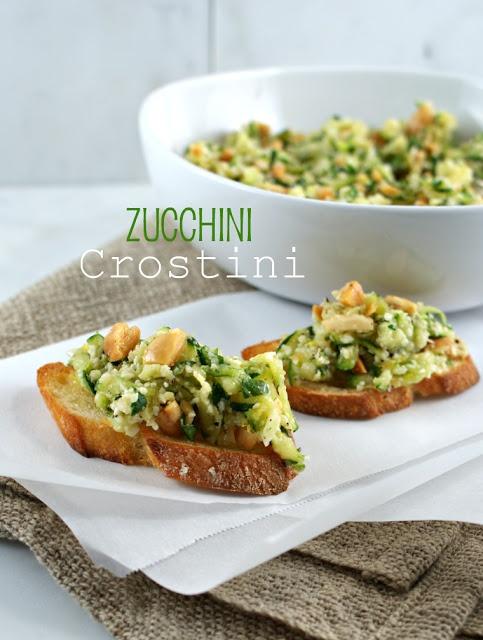 Authentic Suburban Gourmet: Friday Night Bites | Zucchini Crostini