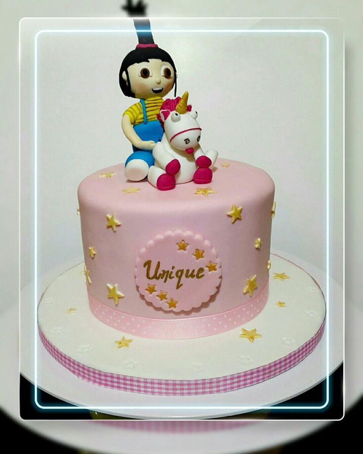 Agnes and Unicorn Fondant cake Custom Homemade Cakes By Handy Nancy