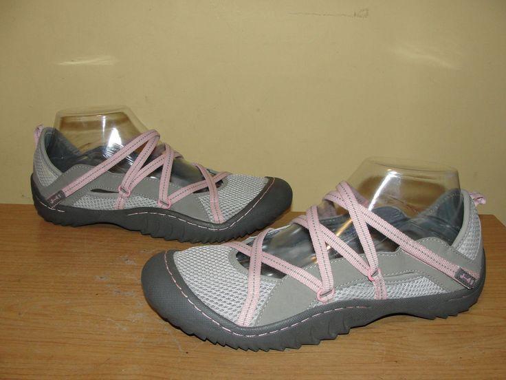 J-41 Jeep Genesis Sport MJ Mary Jane Shoe Sport Sandals Vegan Gray Pink Size 8M #J41 #SportSandals #Casual